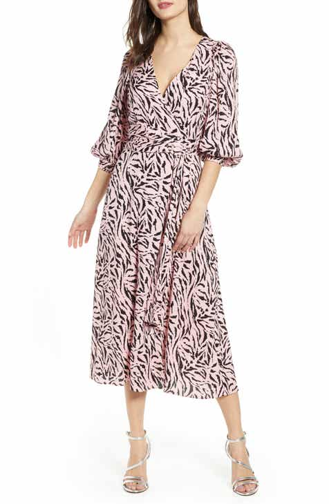 Best #1 AFRM Print Wrap Midi Dress Herry Up