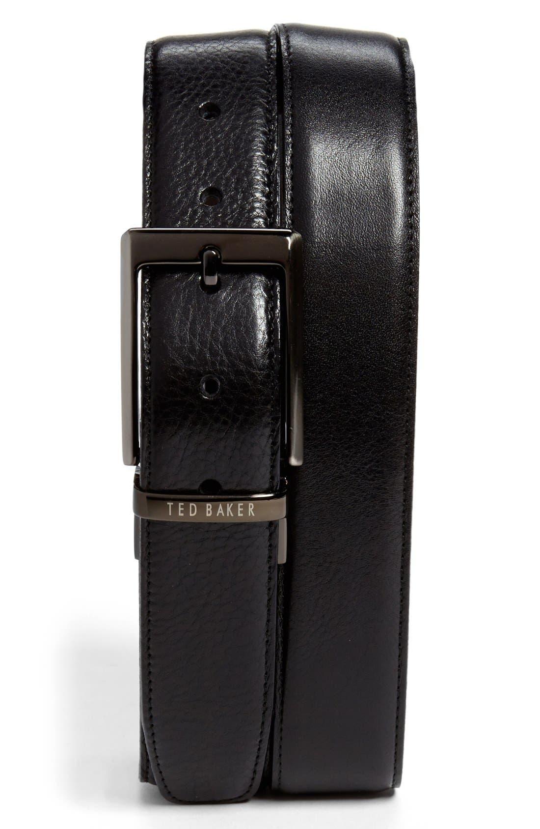 Alternate Image 1 Selected - Ted Baker London Stitched Reversible Belt