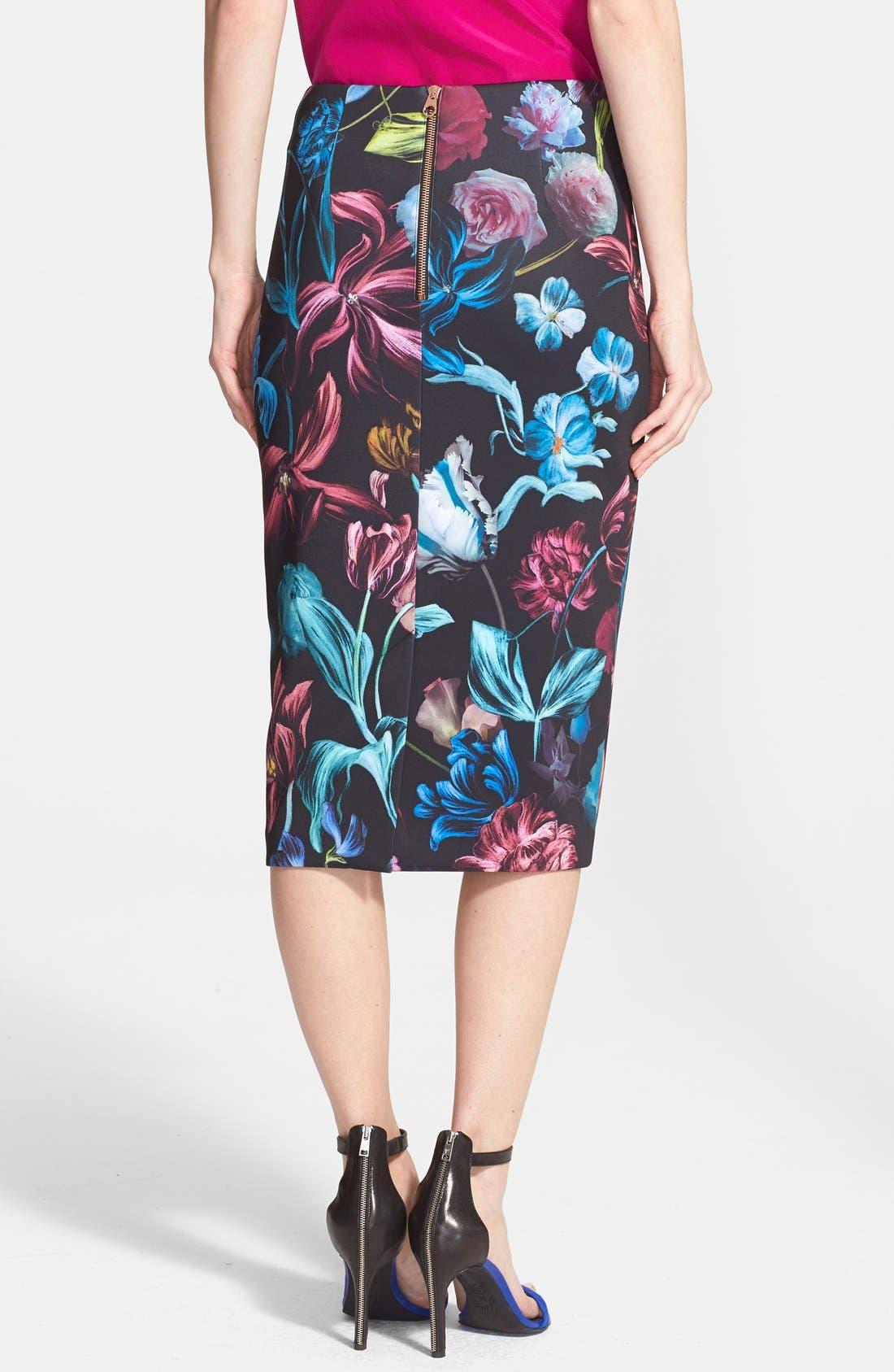 Alternate Image 2  - Ted Baker London 'Dabah' Floral Print Pencil Skirt