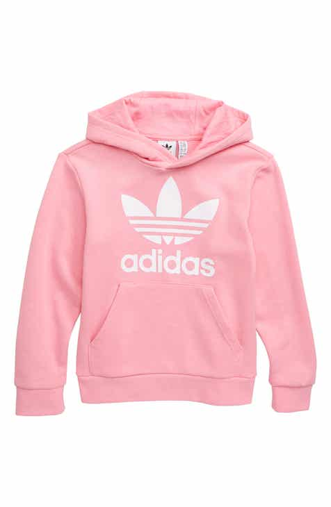 c86cd47ac adidas Originals Trefoil Logo Hoodie (Big Girls)