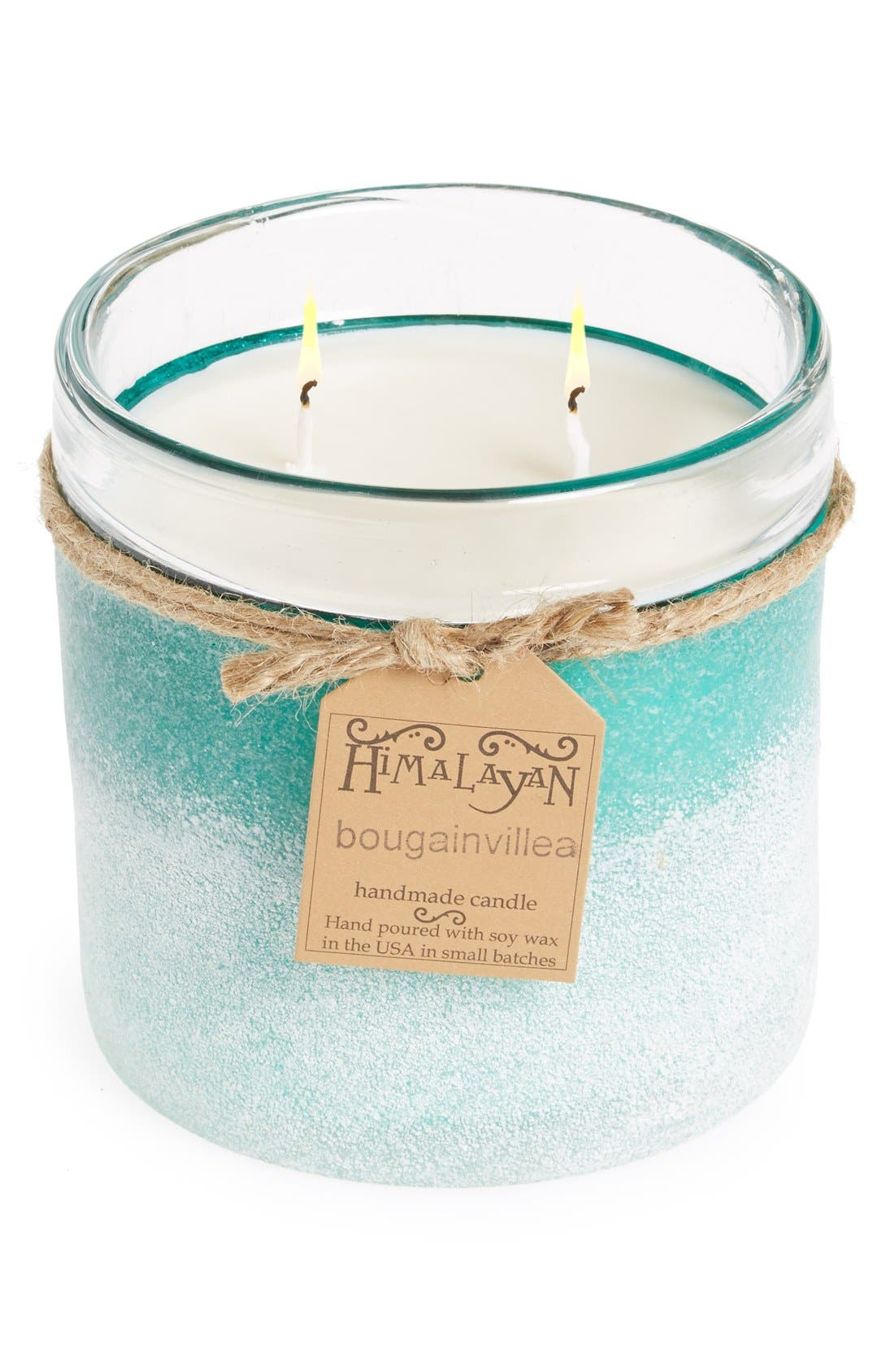 Alternate Image 1 Selected - Himalayan Trading Post Frosted Glass Candle