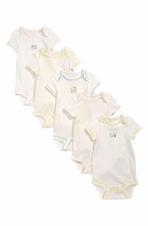 1b4de4347c1 Mini Boden Bunnies 5-Pack Organic Cotton Bodysuits (Toddler Girls)