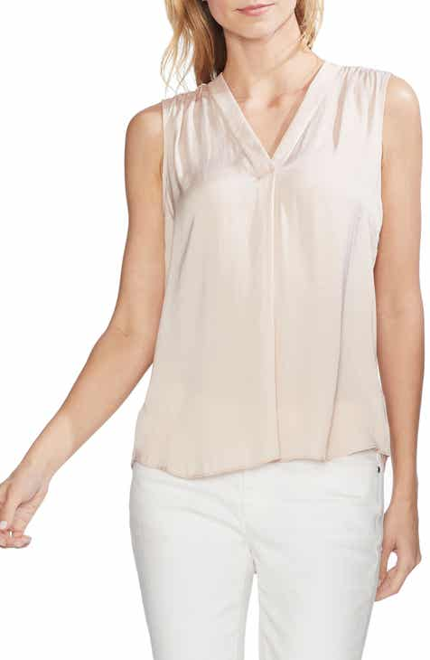 a593ab3354cfb Vince Camuto Rumpled Satin Blouse