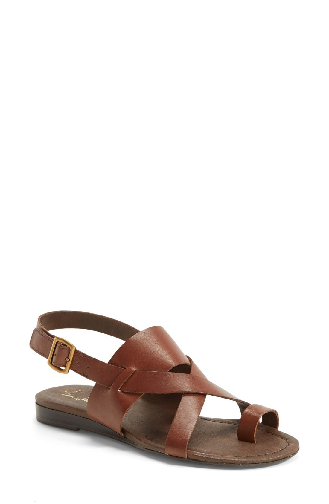 Gia Sandal,                             Main thumbnail 1, color,                             Chocolate Antanado