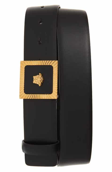 f2397a03a36 Versace Square Buckle Leather Belt