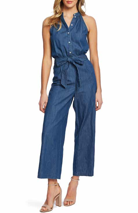Amazing CeCe Sleeveless Belted Jumpsuit Purchase