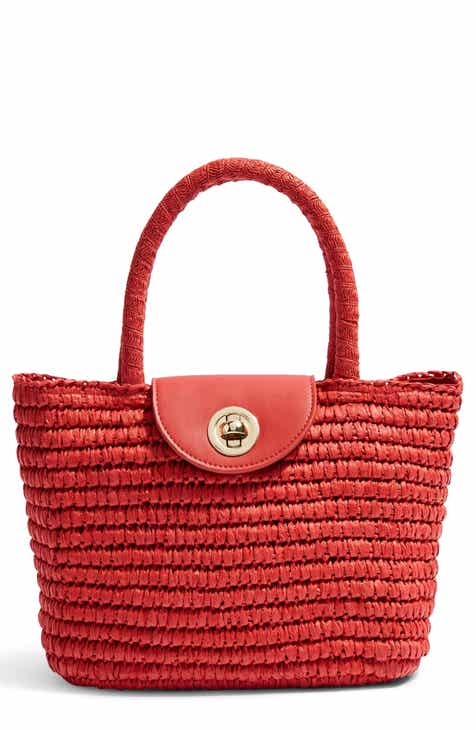 af6258846a Topshop Mini Finch Woven Top Handle Bag