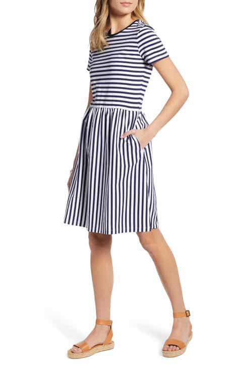 6766b54053f 1901 Stripe T-Shirt Dress (Regular   Petite)