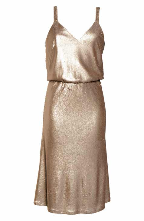 Dress the Population Cameron Sequin Blouson Dress by DRESS THE POPULATION