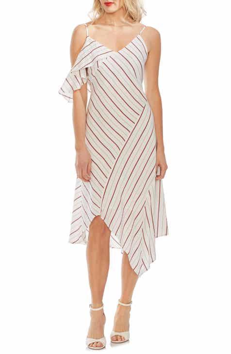 Vince Camuto Asymmetrical Stripe Dress