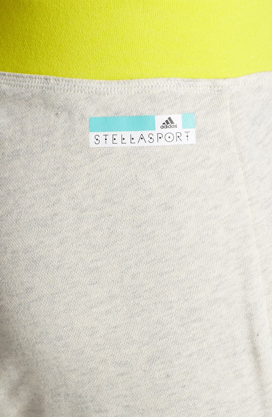 Alternate Image 4  - adidas by Stella McCartney Crop Cotton Sweatpants