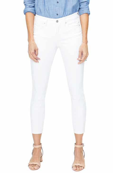NYDJ Ami Ankle Skinny Jeans (Optic White) by NYDJ