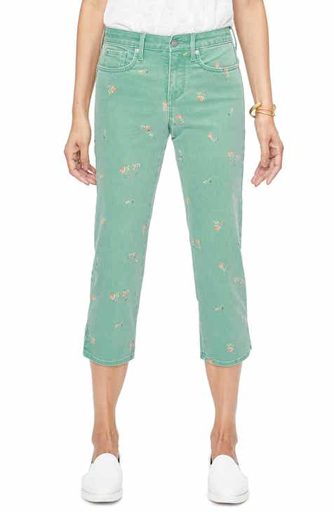 9ecec5430a90a NYDJ Floral Colored Stretch Capri Jeans