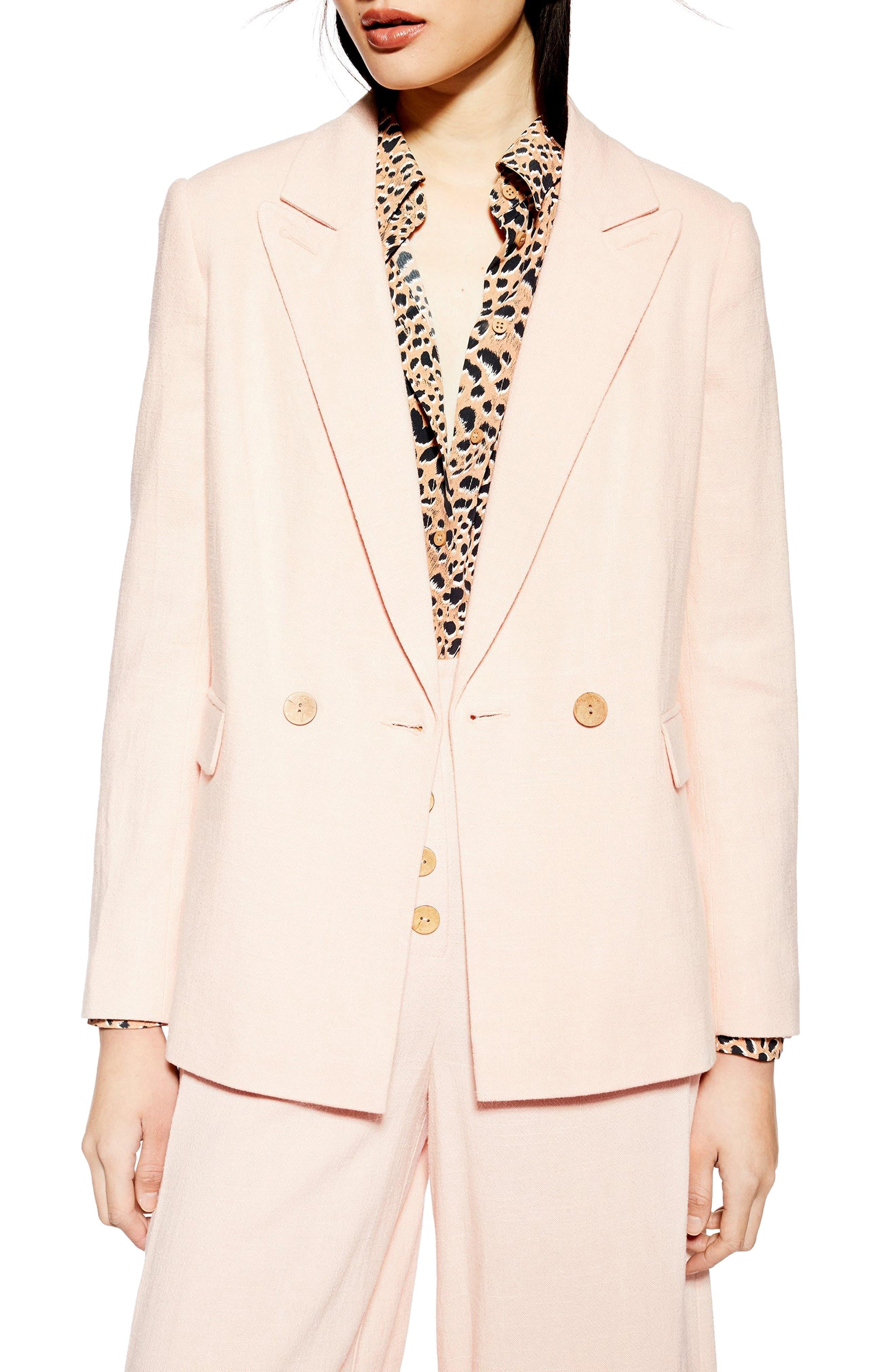 Topshop Coco Linen Blazer Discount