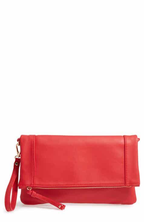 f1cbc47d0a8b Sole Society Marlena Faux Leather Clutch.Crossbody Bag