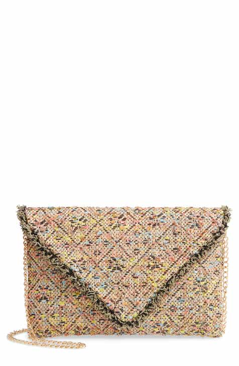 3890db4048f67 Sondra Roberts Woven Envelope Crossbody Bag