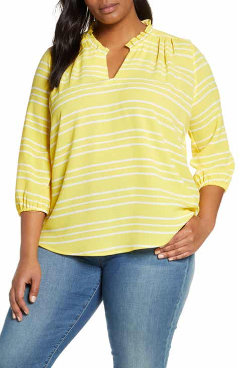 dcf15fb2cf237 Gibson x Living in Yellow Tulip Split Neck Top (Plus Size) (Nordstrom  Exclusive)
