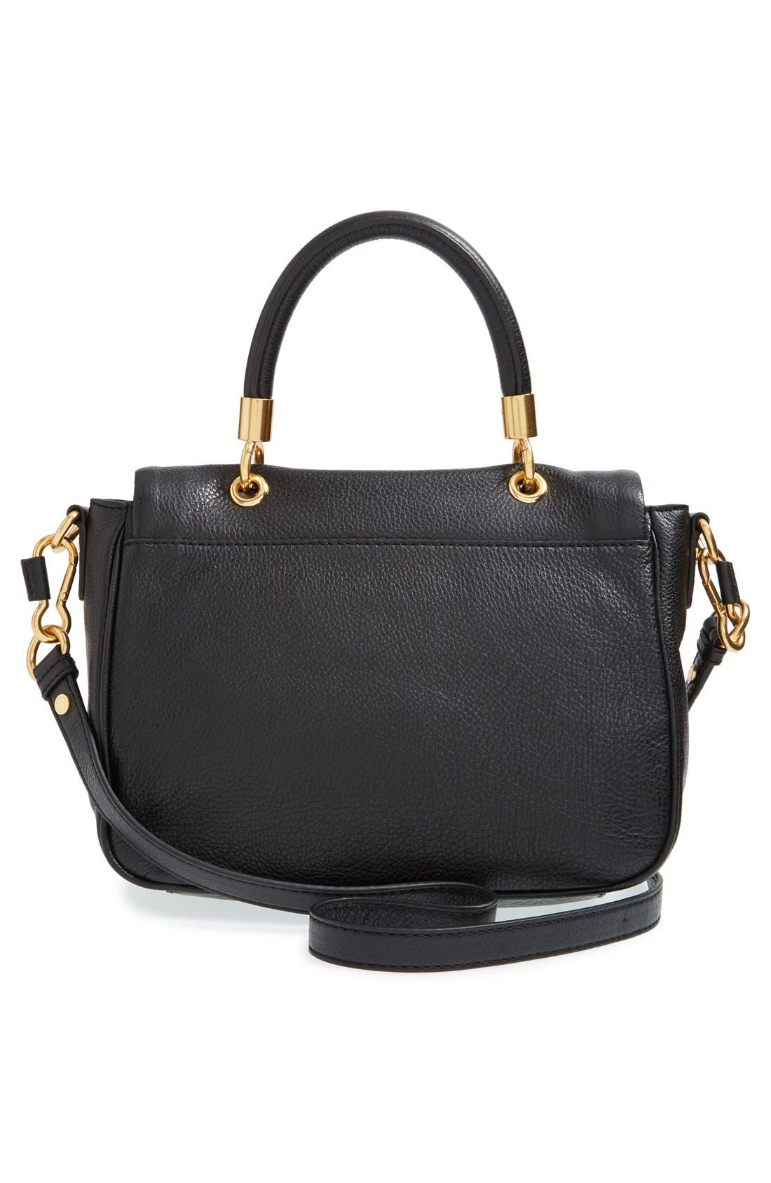 MARC BY MARC JACOBS 'Small Too Hot To Handle' Leather Tote,                             Alternate thumbnail 3, color,                             Black