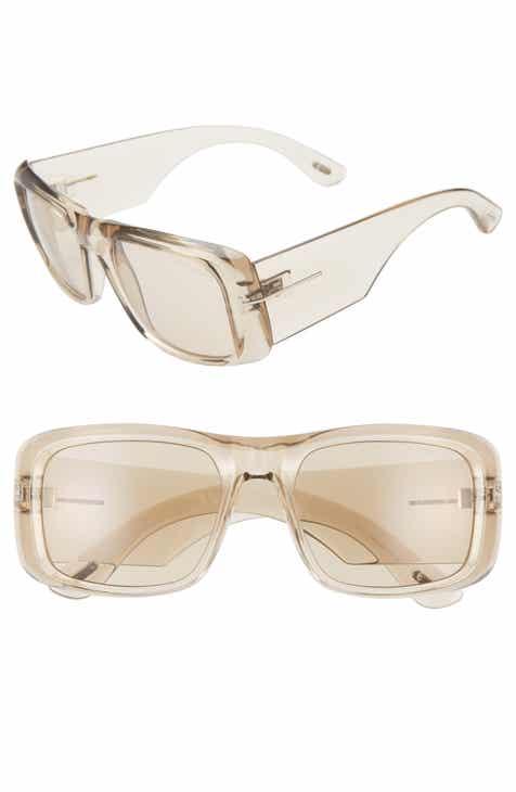 1e0405e2909b Tom Ford Aristotle 56mm Transparent Square Sunglasses