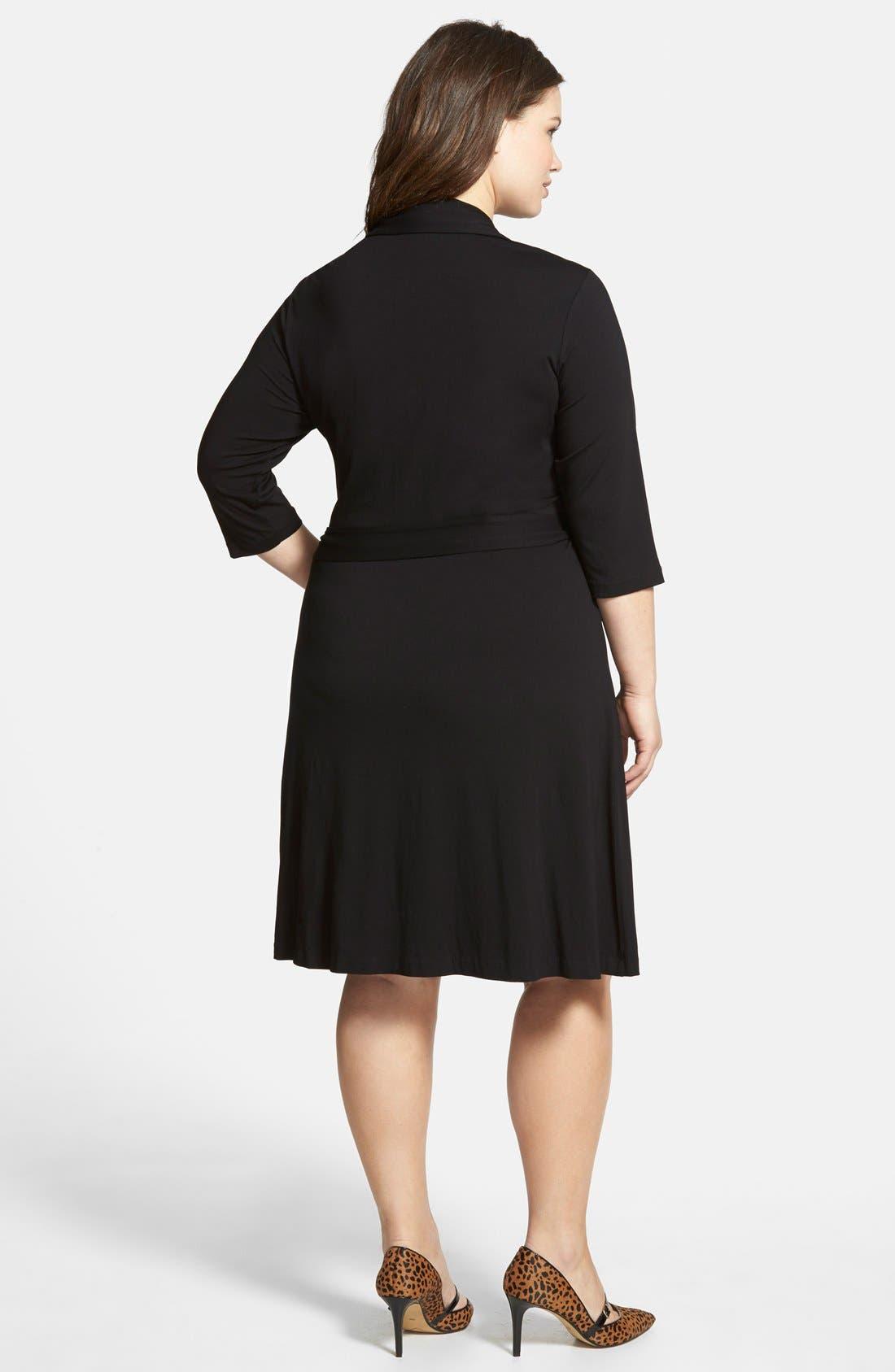 Alternate Image 2  - Vince Camuto Jersey Faux Wrap Dress (Plus Size)