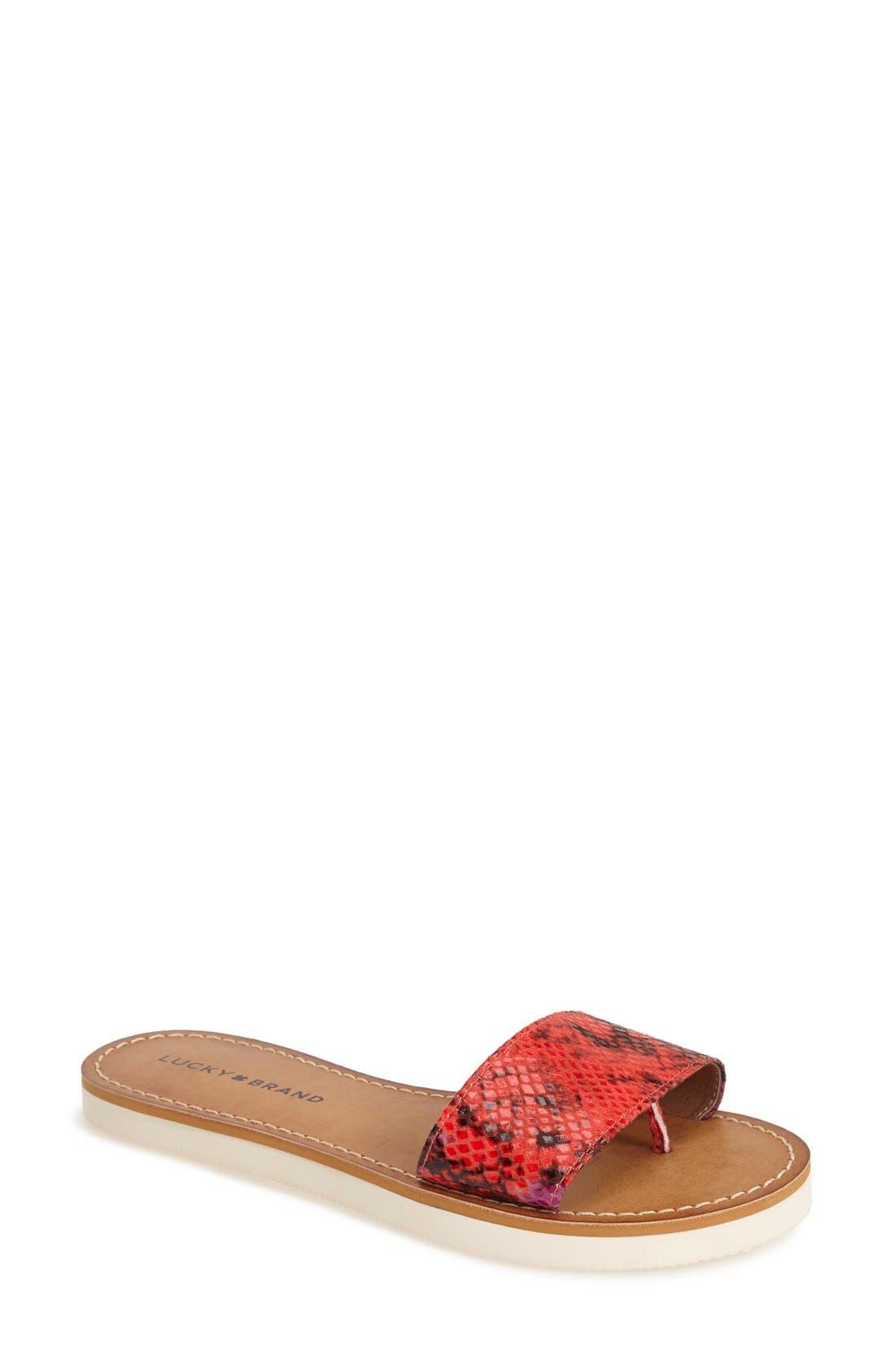 Alternate Image 1 Selected - Lucky Brand 'Deldonna' Slide Sandal (Women)