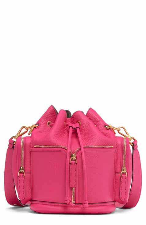 21616382b3f4 Fendi Mini Mon Tresor Leather Bucket Bag