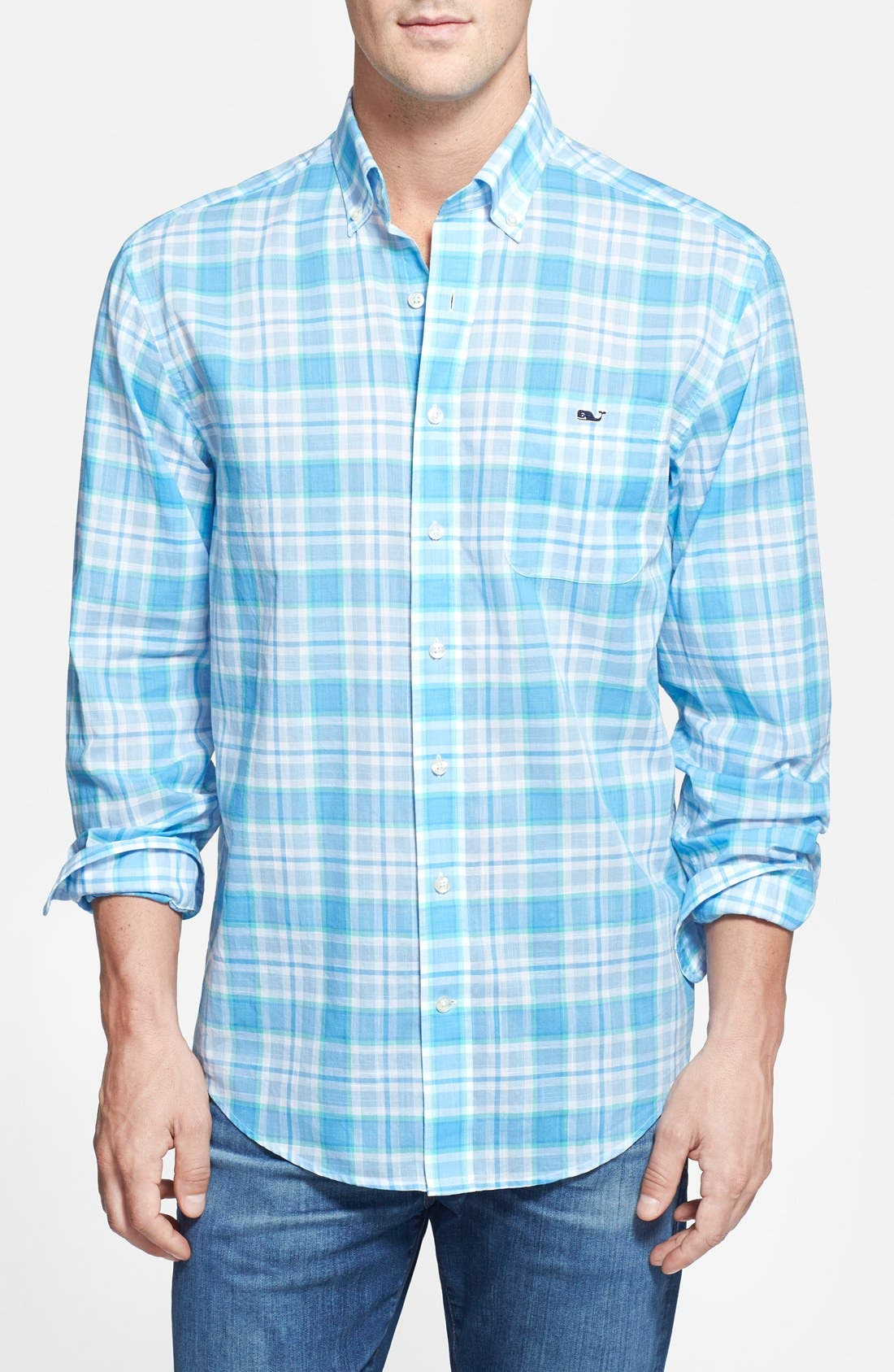 Alternate Image 1 Selected - Vineyard Vines 'Tucker' Classic Fit Plaid Sport Shirt