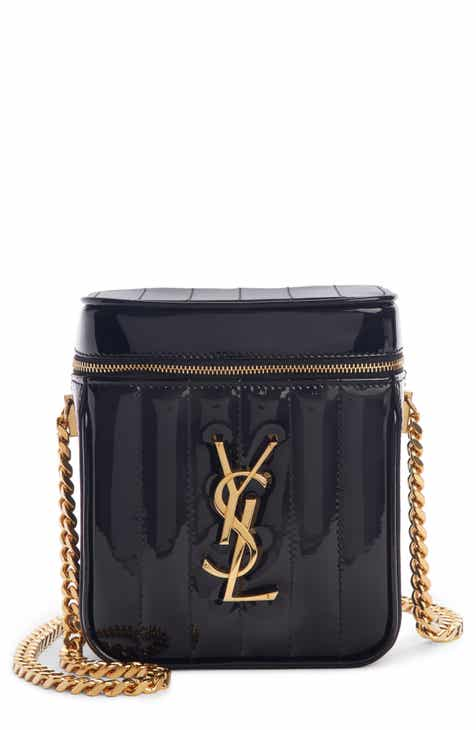 829ec7649f0cc6 Saint Laurent Vicky Patent Leather Vanity Case Crossbody Bag
