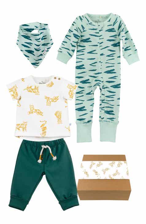 976ace120 Oliver & Rain Organic Cotton Bandana Bib, T-Shirt, Sweatpants & One-Piece  Gift Set (Baby)