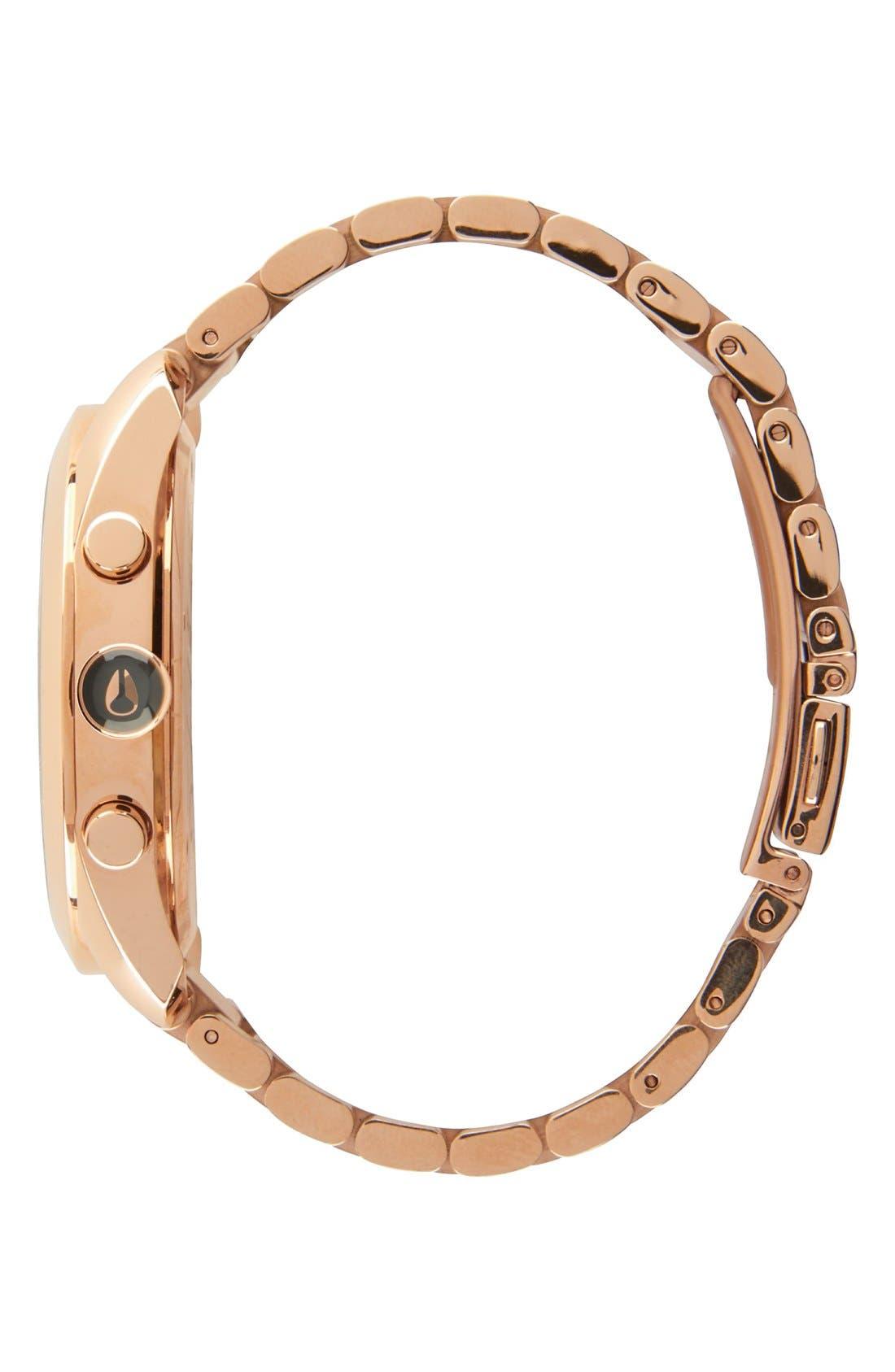 Alternate Image 3  - Nixon 'Bullet' Guilloche Chronograph Bracelet Watch, 42mm