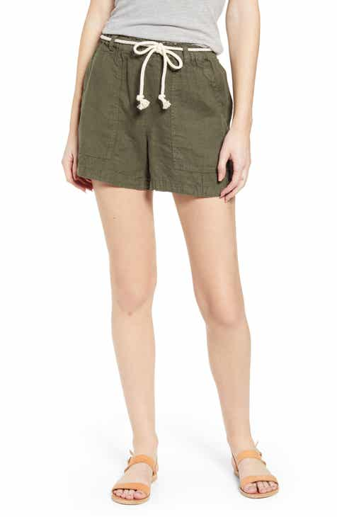 Lou & Grey Rope Tie Linen Shorts by LOU AND GREY