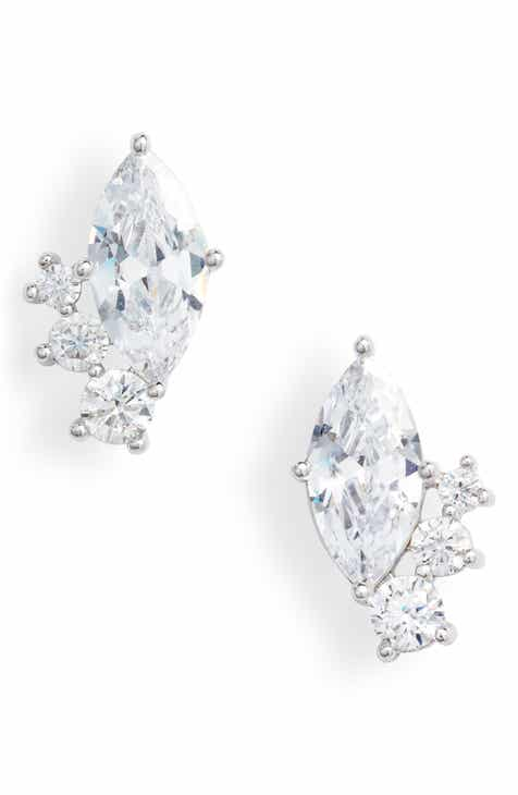 5742c9ea7 Nordstrom Cubic Zirconia Marquise Cluster Stud Earrings