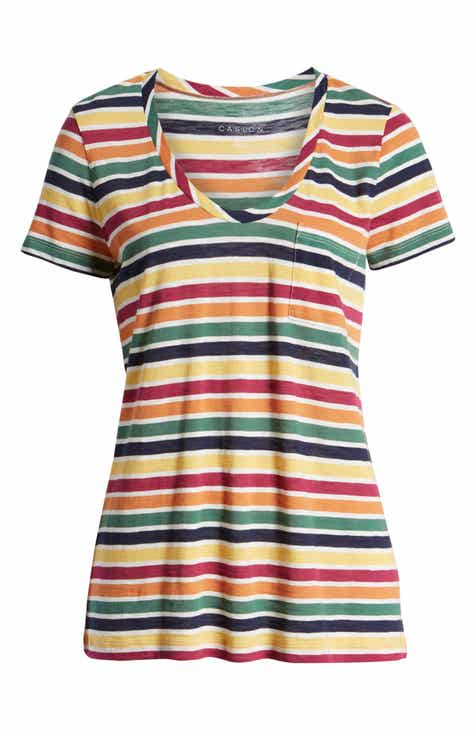 fbee53c388 Caslon® Rounded V-Neck Tee