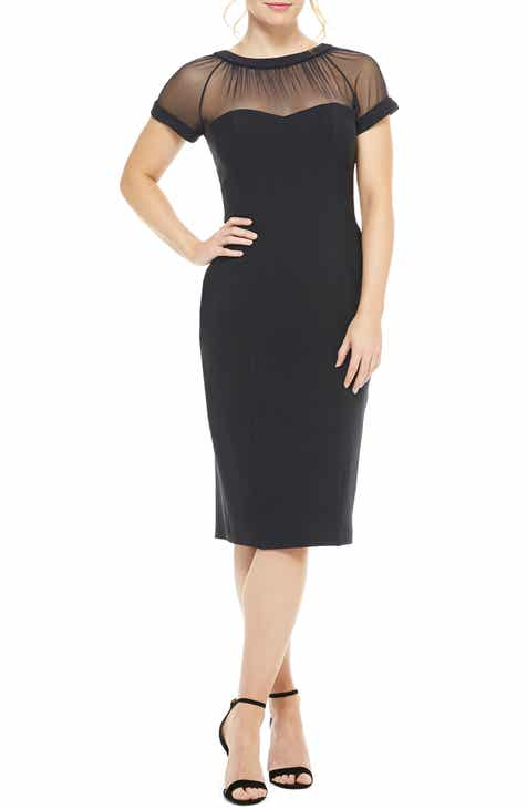e3f96555 Maggy London Illusion Yoke Crepe Sheath Dress (Regular & Petite)