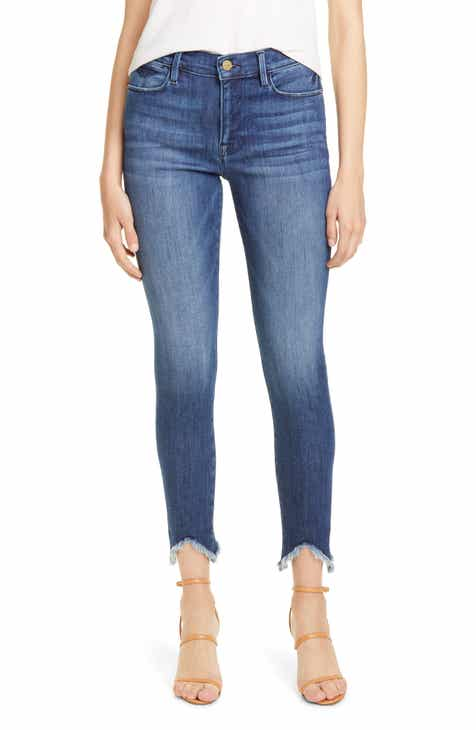 358c5f29fd1 FRAME Le High Double Triangle Raw Hem Ankle Skinny Jeans (Bestia)