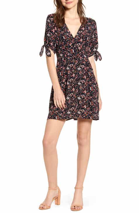 dd9fb6cd158 Sanctuary Modern Love Floral Button Front Minidress