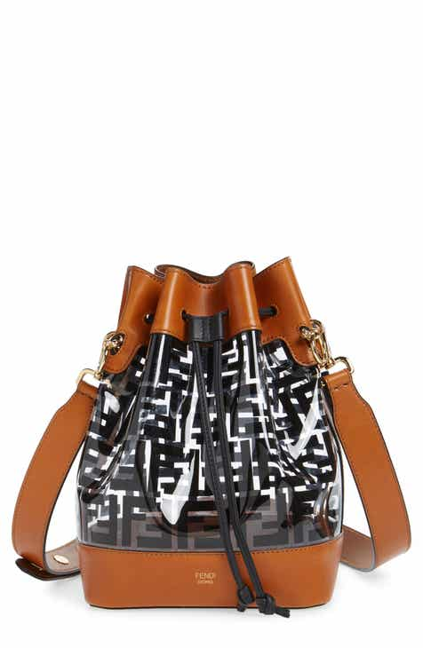 3b3a9d2ed60 Fendi Mon Tresor Logo Transparent Bucket Bag