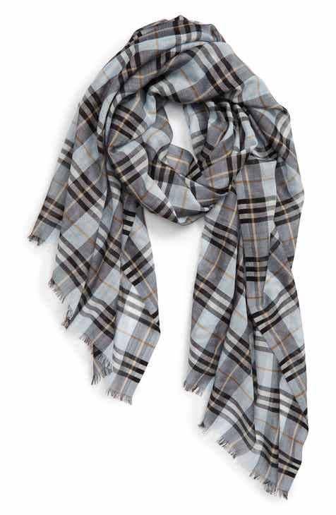 14ed2405a7a Burberry Vintage Check Wool   Silk Scarf
