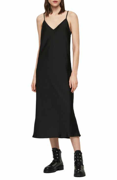 ALLSAINTS Benno Tystripe Midi Dress