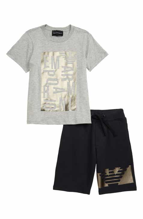 478191c0 Armani Junior Graphic T-Shirt & Shorts Set (Little Boys & Big Boys)