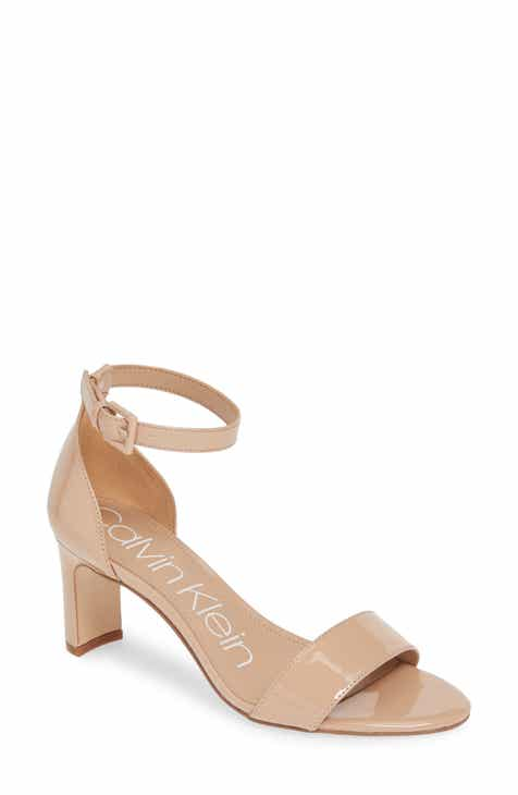 f3e5663ce9 Calvin Klein Carrie Ankle Strap Sandal (Women). $88.95. Product Image.  WHITE LEATHER; BLACK LEATHER