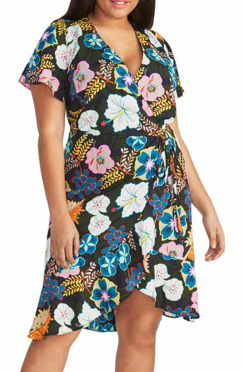 5cd04ade3fdb9 RACHEL Rachel Roy Floral Print Wrap Dress