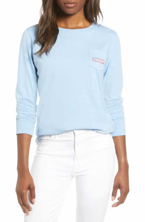 27b75539 vineyard vines USA Logo Long Sleeve Pocket Tee
