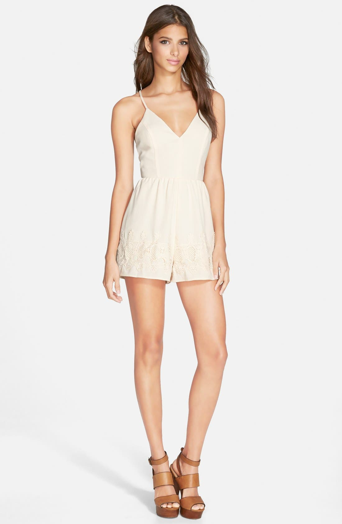 Alternate Image 1 Selected - ASTR Appliqué Romper