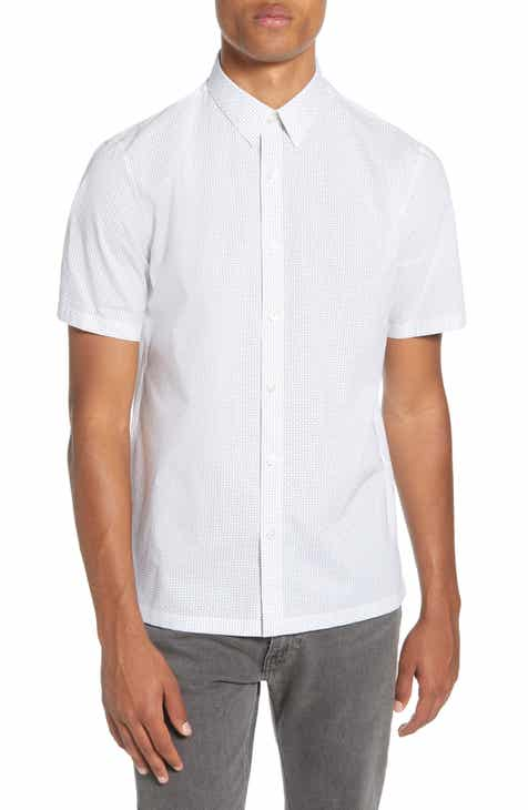 27a09cb2 Theory Regular Fit Short Sleeve Cotton Button-Up Sport Shirt