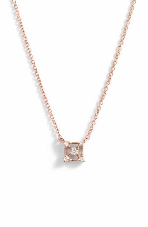 18e4da98f85 Dana Rebecca Designs Square Diamond Pendant Necklace