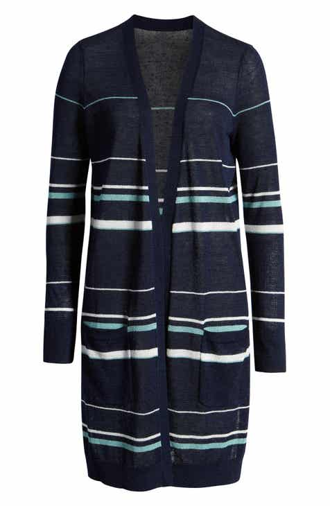 7bd0c32c979076 Halogen® Long Linen Blend Cardigan (Regular & Petite)