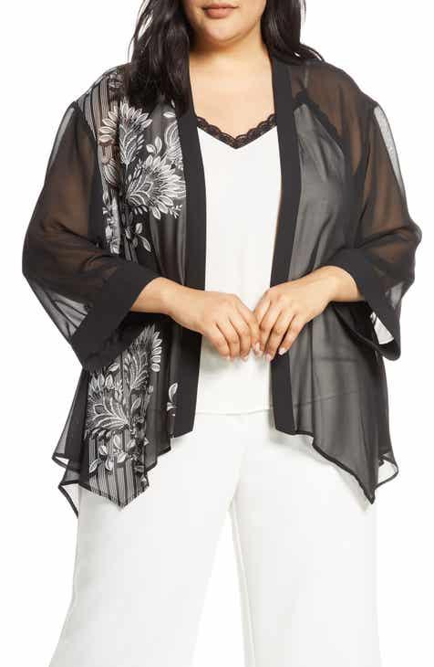c220c9d69b4eab Vince Camuto Ornate Melody Chiffon Jacket (Plus Size)