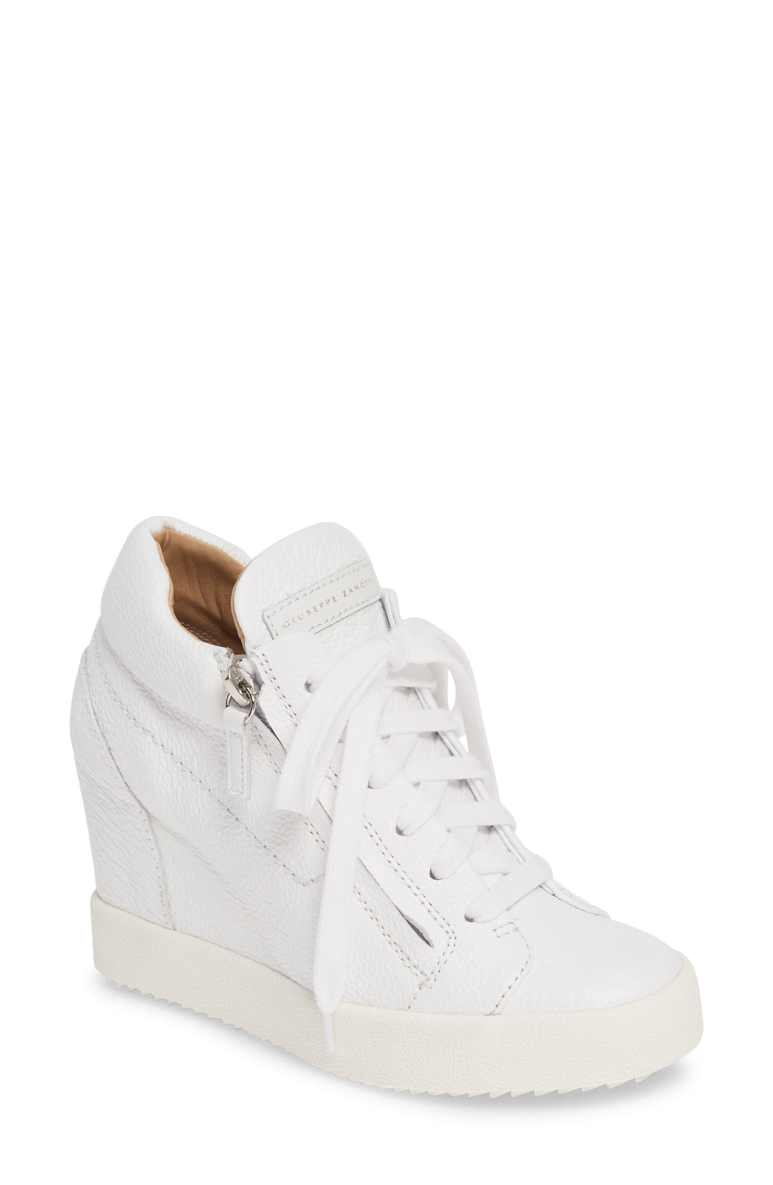 white platform sneakers designer