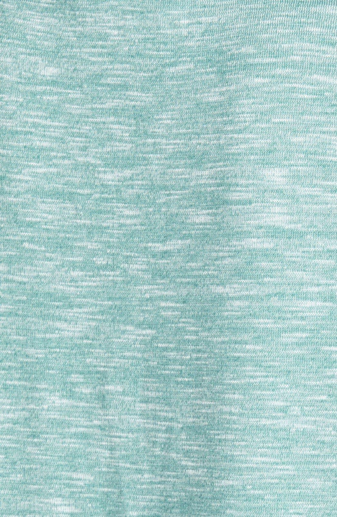 Side Slit Long Sleeve Tee,                             Alternate thumbnail 3, color,                             Green Deep Sea